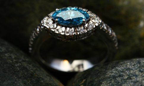 ブルーマーキスダイヤリング